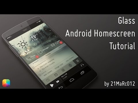 Glass - Android Homescreen Tutorial - YouTube