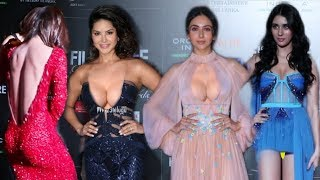 Bollywood Many H0TT Actresses on Red Carpet at Filmfare Glamour Awards 2019  Rakul Ankita Sunny