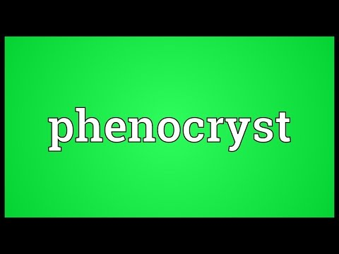 Phenocryst Meaning