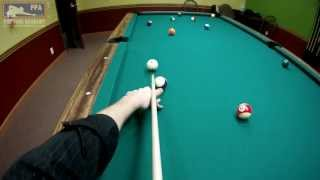 Billiards Head Cam GoPro: 15 Ball Rotation with Max Eberle