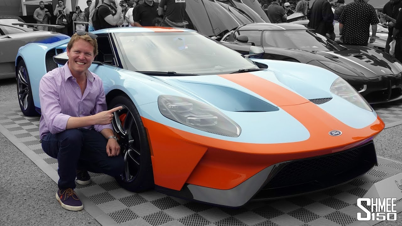 Lets Ride In The New Gulf Ford Gt To The Craziest Car Event