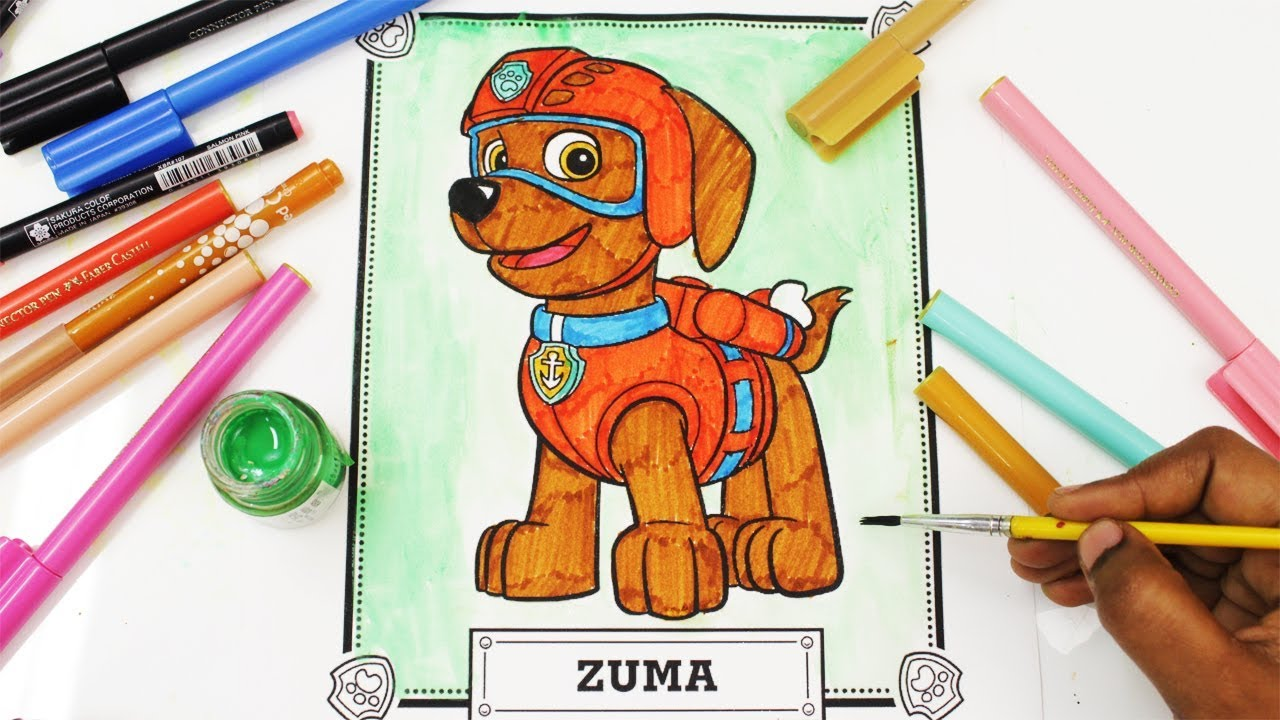 Color zuma game - Paw Patrol Coloring Book Zuma Pup Episode Show Surprise Egg And Toy Collector Setc