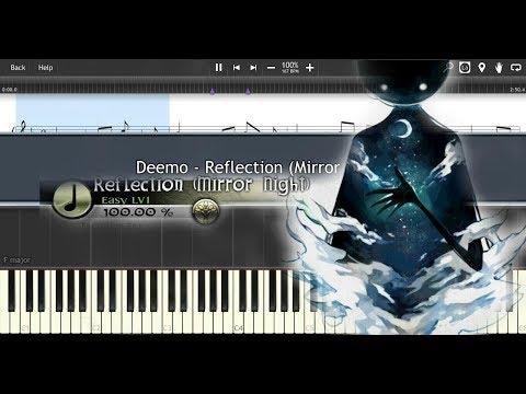 Deemo - V.K. - Reflection (Mirror Night) - Synthesia Piano Tutorial + Piano Sheet