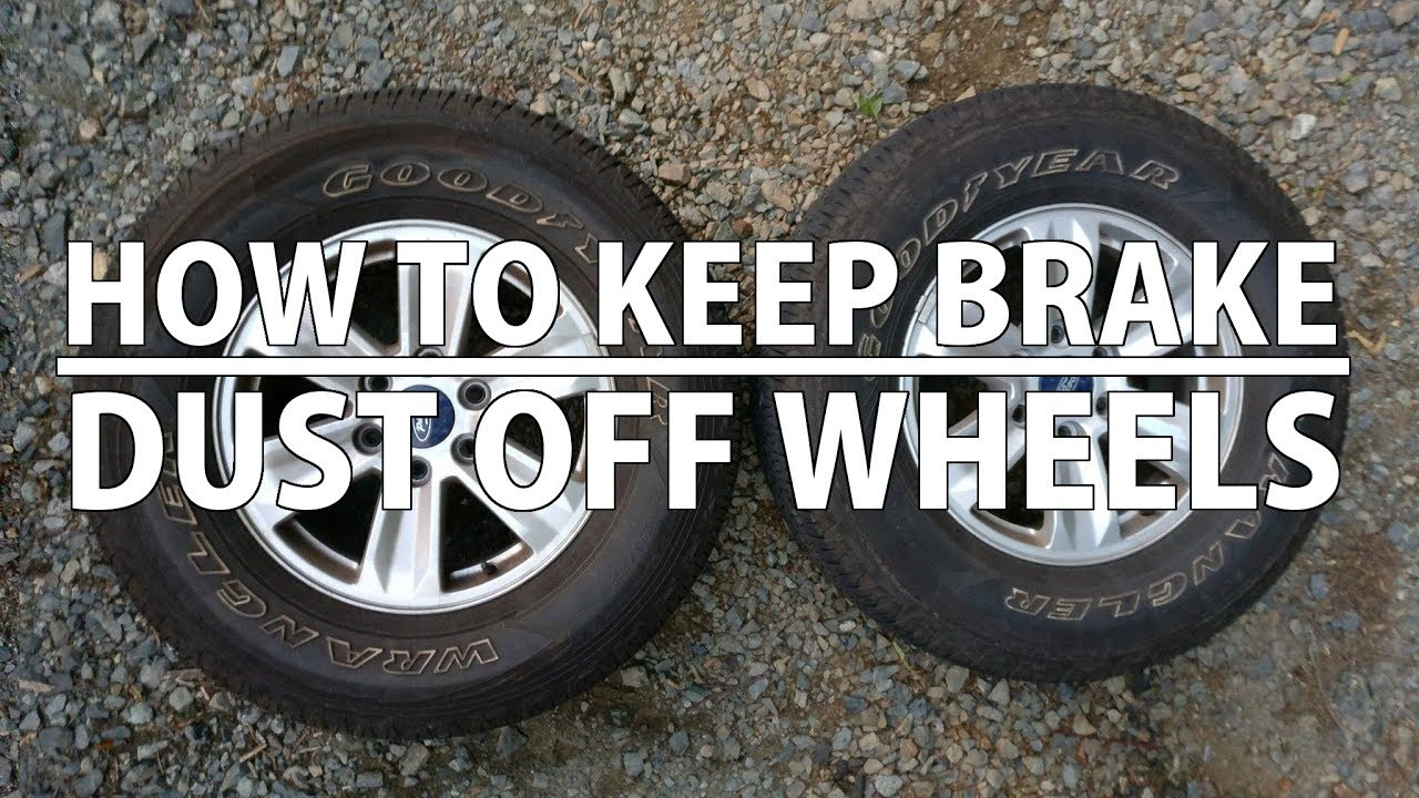 how to clean brake dust on brakes