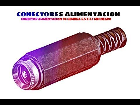 Video de Conector alimentacion DC hembra 5.5 x 2.1 mm  Negro
