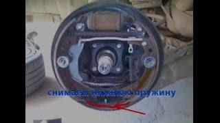 Замена задних (барабанных) тормозных колодок Nissan Note E11