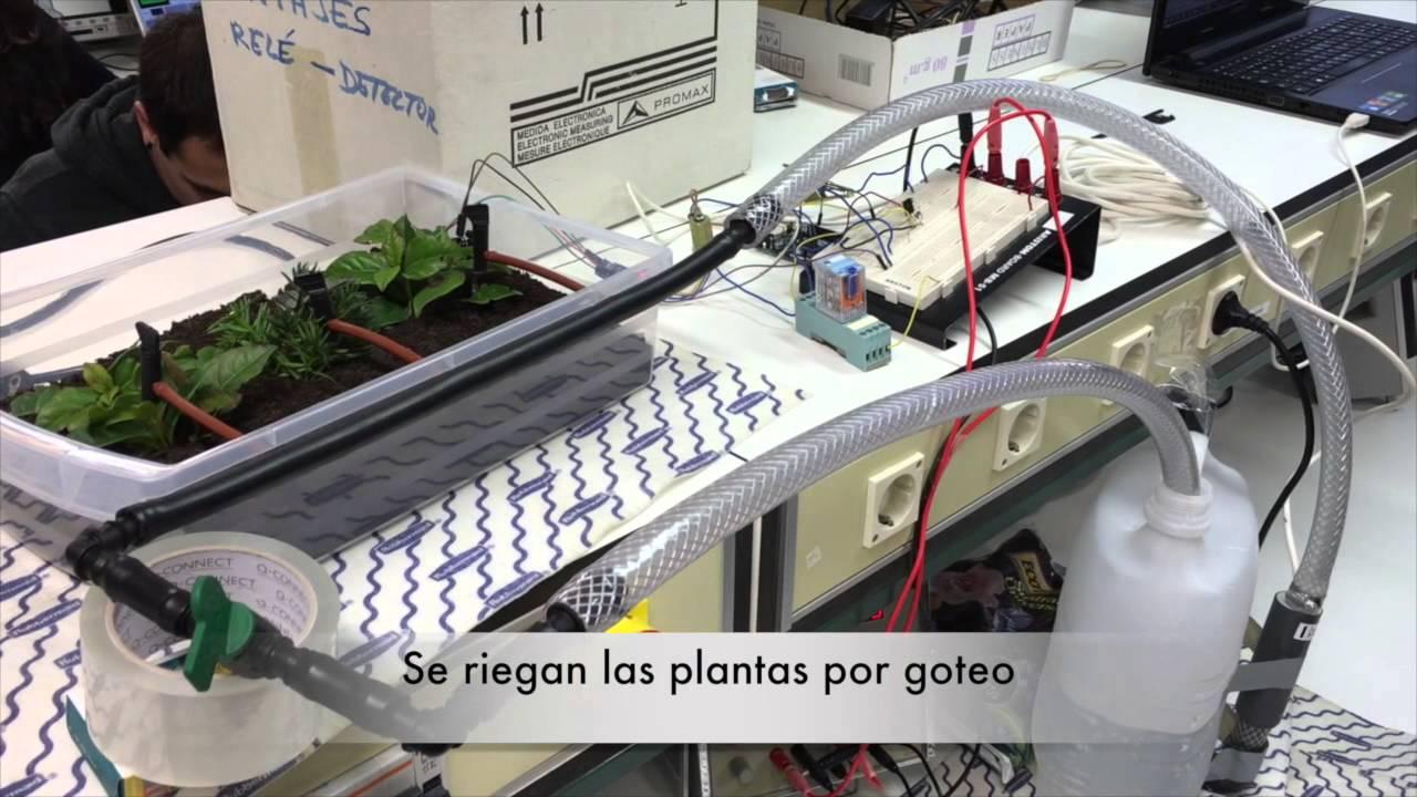 Sistema de riego autom tico con arduino upna youtube for Aspersores para riego jardin