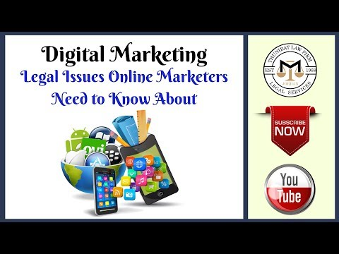 Online Marketing - Legal Issues Online Marketers Need to Know About