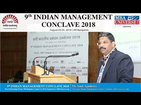 Mr Amit Agnihotri, Convenor, Indian Management Conclave
