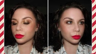 christmas party make up using w7 lightly toasted palette