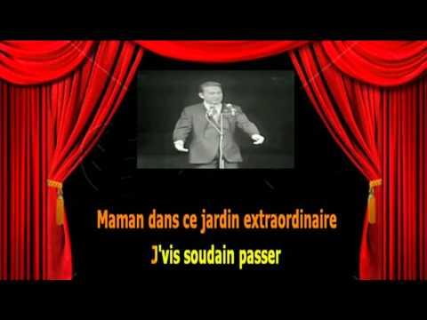 Karaoké Charles Trenet  -  Le jardin extraordinaire