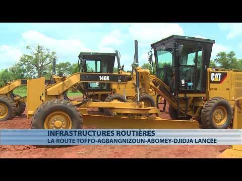 Les travaux de de bitumage la route Toffo-Agbangnizoun-Abomey-Djidja lancés