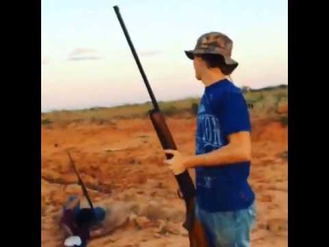 Gun Safety fail, blooper,