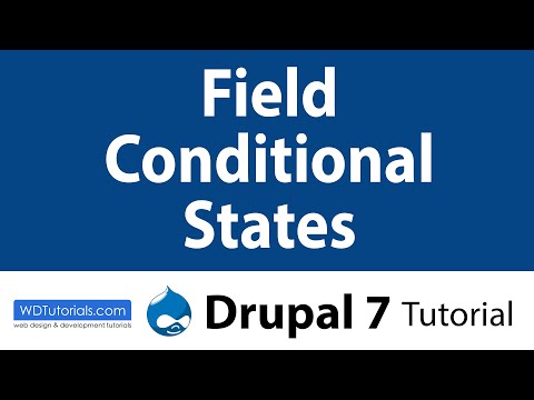 Field Conditional States Module (Drupal Tutorial)