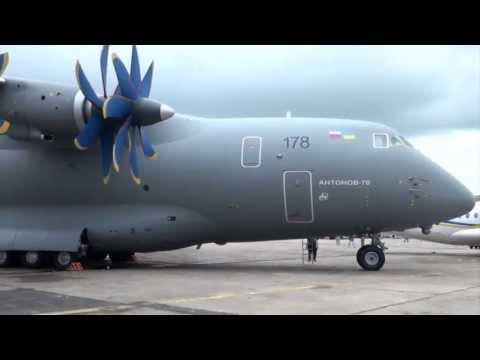 Antonov AN-70 At Paris Air Show 2013