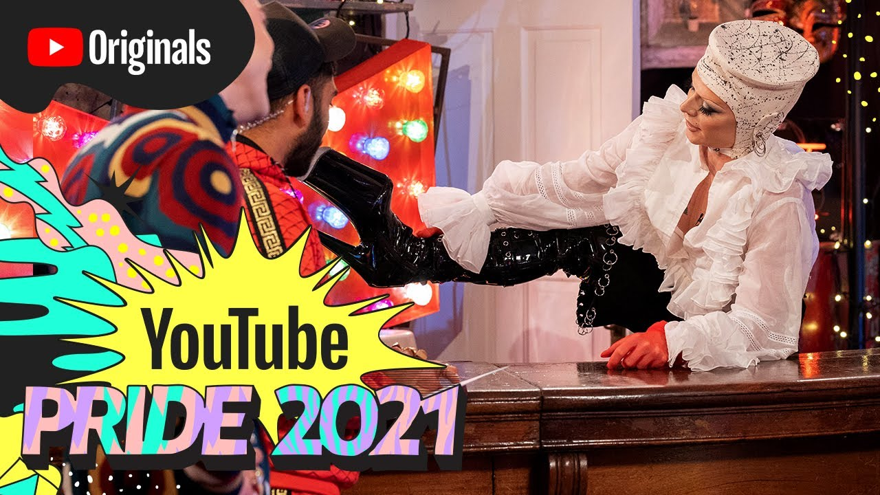 How To Walk In Heels with Bimini Bon Boulash, Olly Alexander & Mawaan Rizwan | YouTube Pride 2021