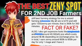 The Best Zeny Spot For 2nd Job Farmers As Of Today (part1)