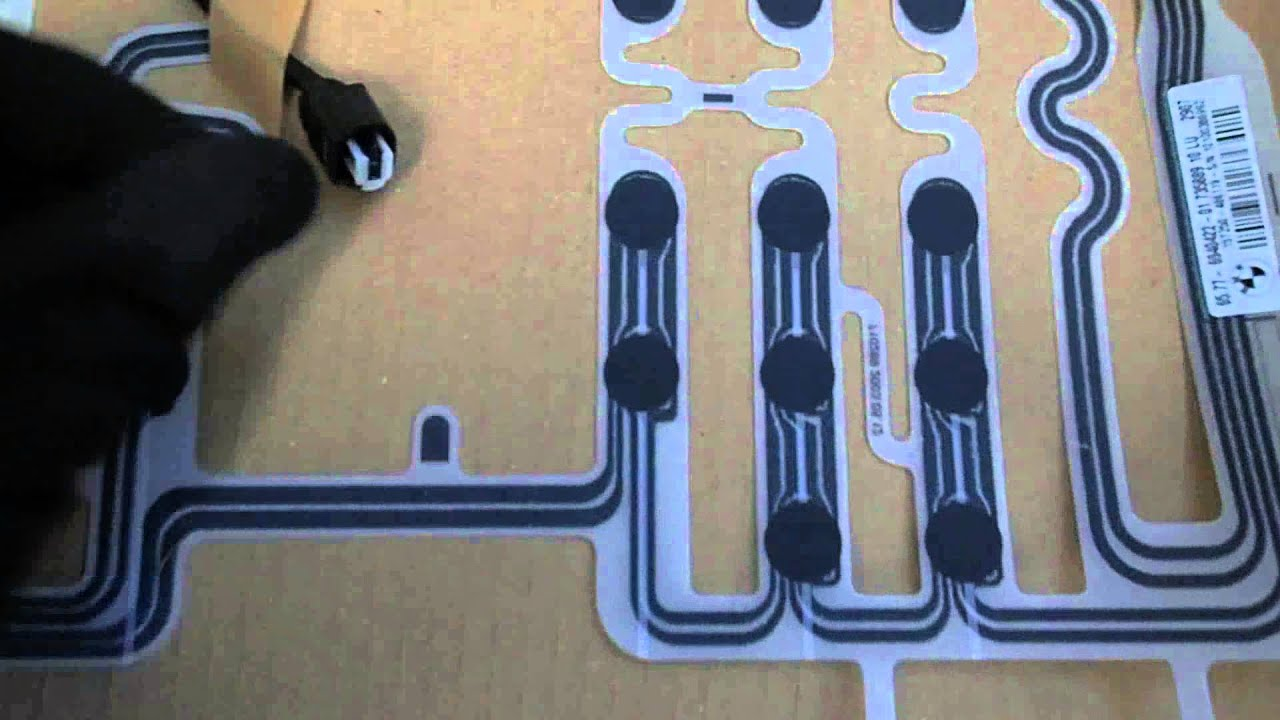bmw e60 e61 5 series airbag passenger seat sensor mat replacement [ 1280 x 720 Pixel ]