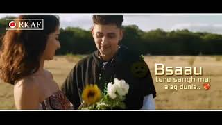 DUNIYA - ZACK KNIGHT romantic cover song whatsapp status lyrics 2019