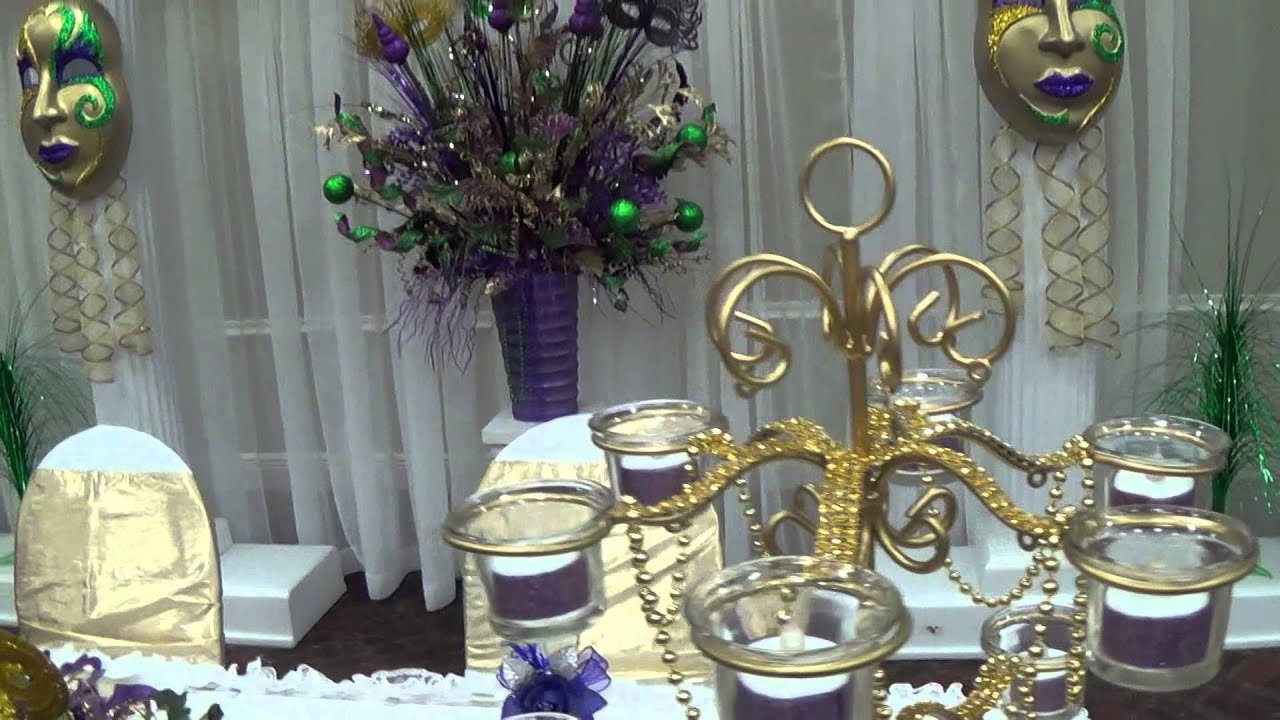 Mardi gras sweet 16 party decorations