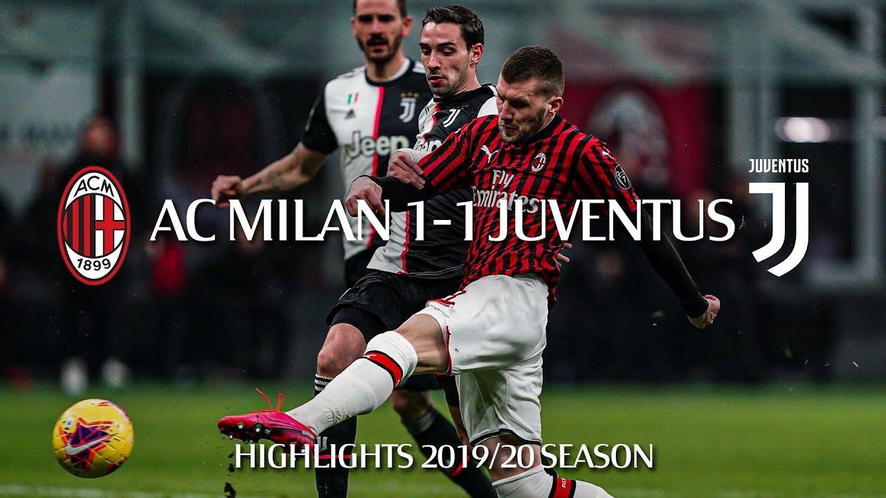 Highlights   AC Milan 1-1 Juventus   Semi-final first leg   Coppa Italia  2019/20 - YouTube