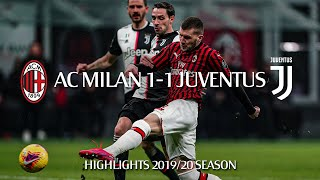 Highlights | Ac Milan 1-1 Juventus | Semi-final First Leg | Coppa Italia 2019/20