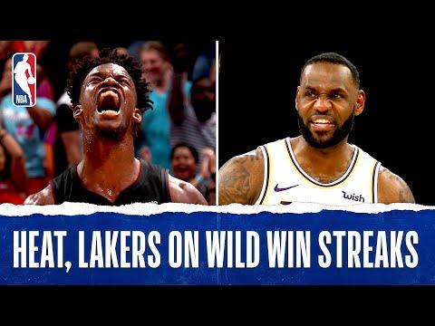 Heat, Lakers On RIDICULOUS Win Streaks!