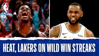 Heat, Lakers On RIDICULOUS Win Streaks!