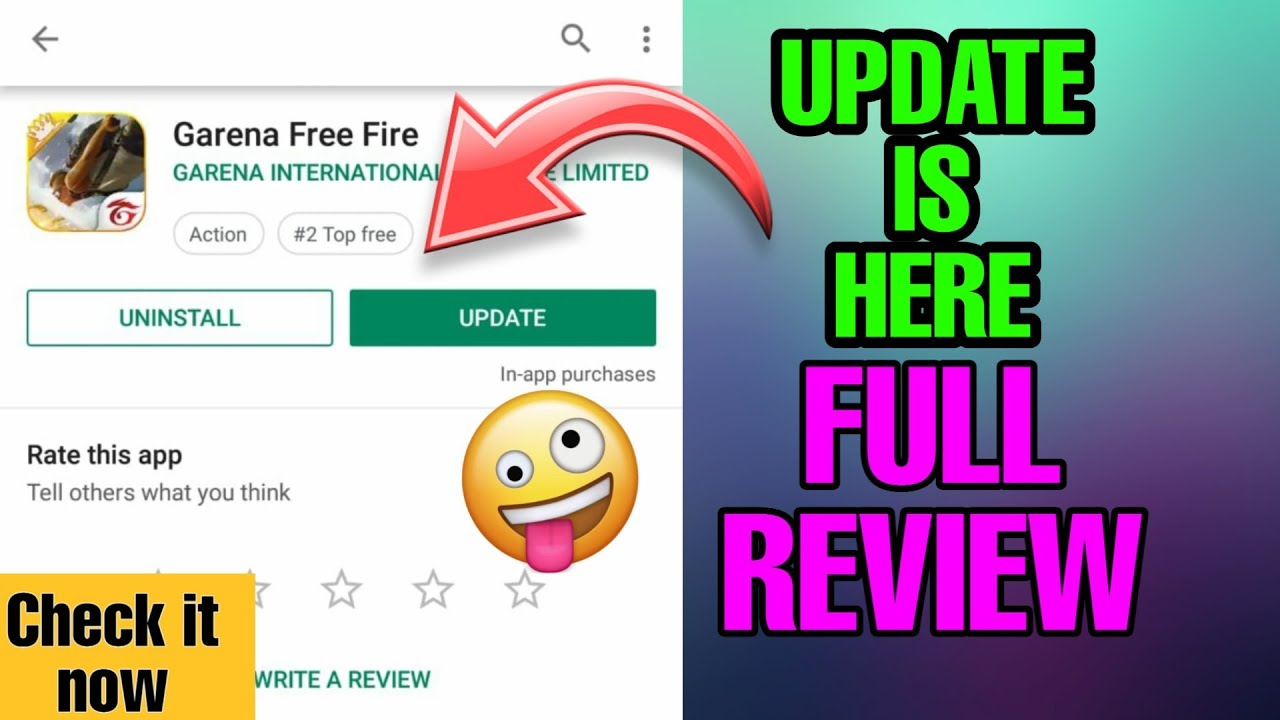 how to update free fire