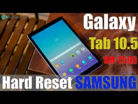 How To Hard Reset / Factory Reset Samsung Galaxy Tab A 10.5 Inch (SM-T595)