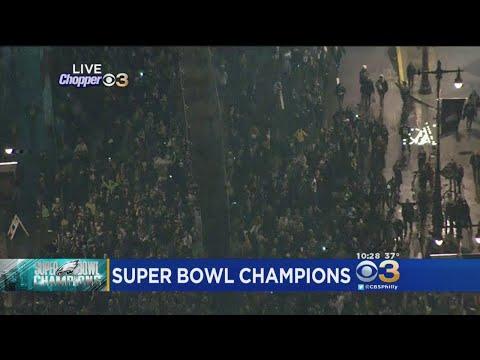 Eagles Fans Celebrate on Broad Street