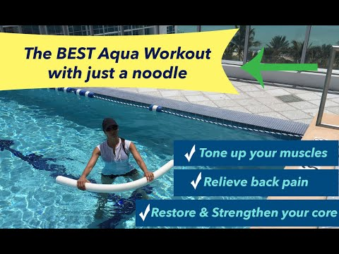 water exercises with a noodle