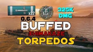 NEW 0.6.4 ► Buffed Shimakaze Torps || 325K DMG - World of Warships