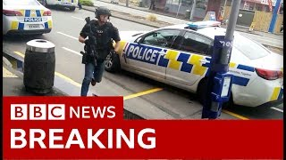 Christchurch mosque shootings: Footage shows arrest - BBC News