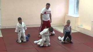 1.11.15 Открытый урок по дзюдо: разминка в парах. Малыши 3 - 4 года. Centre Judo Kids. Feodosiya