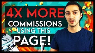 How to Make 4x MORE Affiliate Sales Using This Landing Page