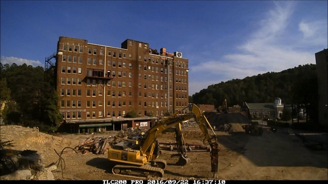 majestic hotel demolition time lapse hot springs. Black Bedroom Furniture Sets. Home Design Ideas
