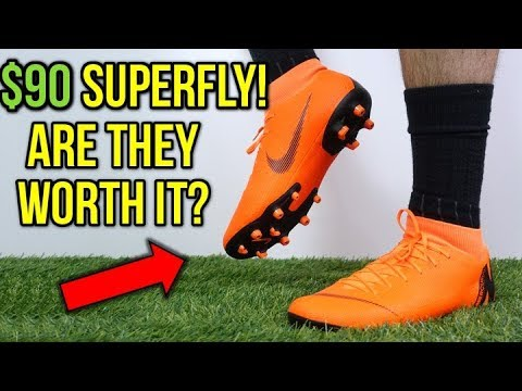 34a760881a4 HOW GOOD IS THE $90 SUPERFLY? - Nike Mercurial Superfly 6 Academy MG  (Orange) - Review + On Feet