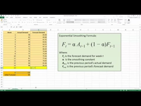How To... Forecast Using Exponential Smoothing in Excel 2013