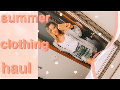 SUMMER CLOTHING HAUL (American Eagle, Hollister, Fabletics, Etc!) // My Closet Organization 2019