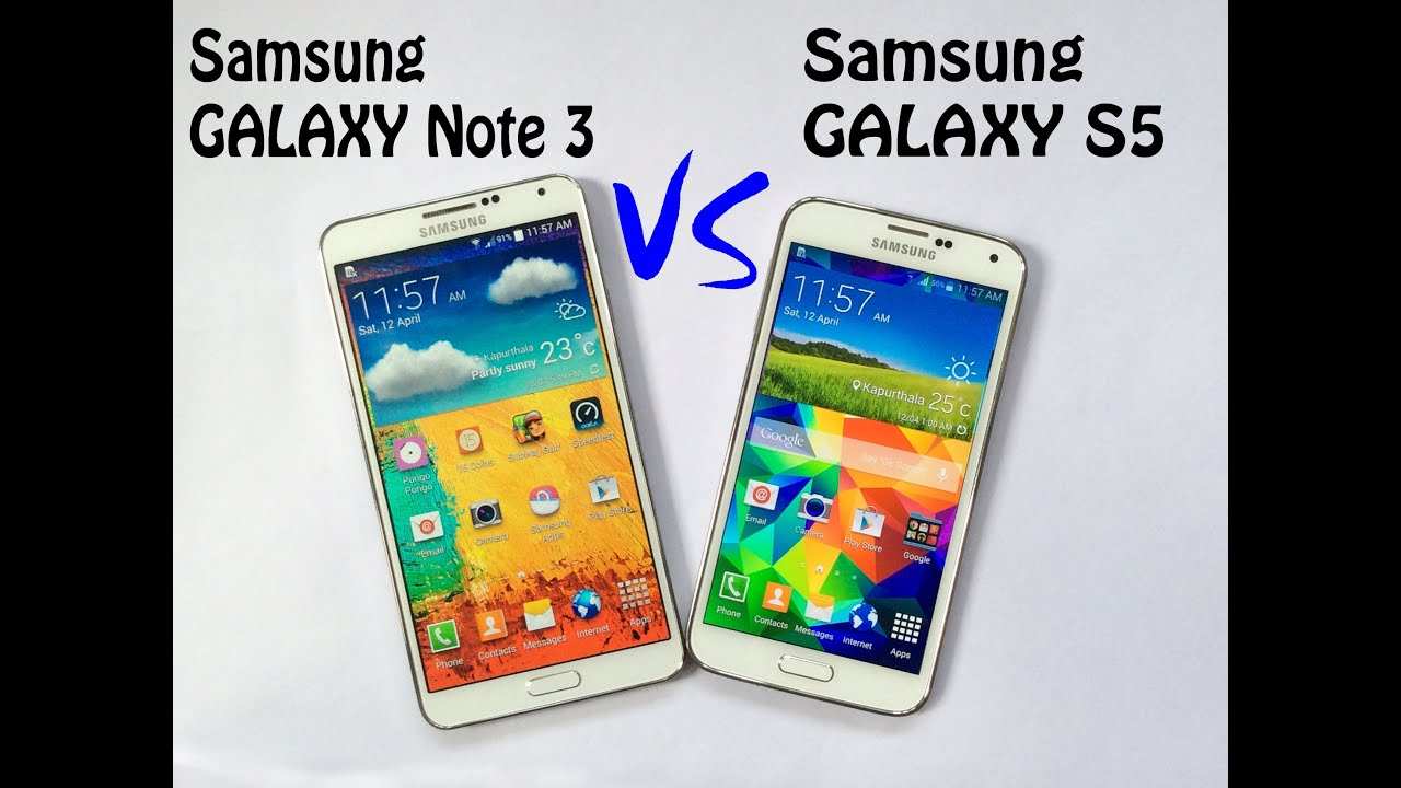 Samsung Galaxy S5 vs Samsung Galaxy Note 3 Speed Test | Full ...
