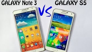 Samsung Galaxy S5 vs Samsung Galaxy Note 3 Speed Test | Full Compresion