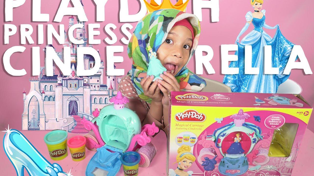 Saleha Buka Mainan Playdoh Princess Cinderella Unboxing Toys