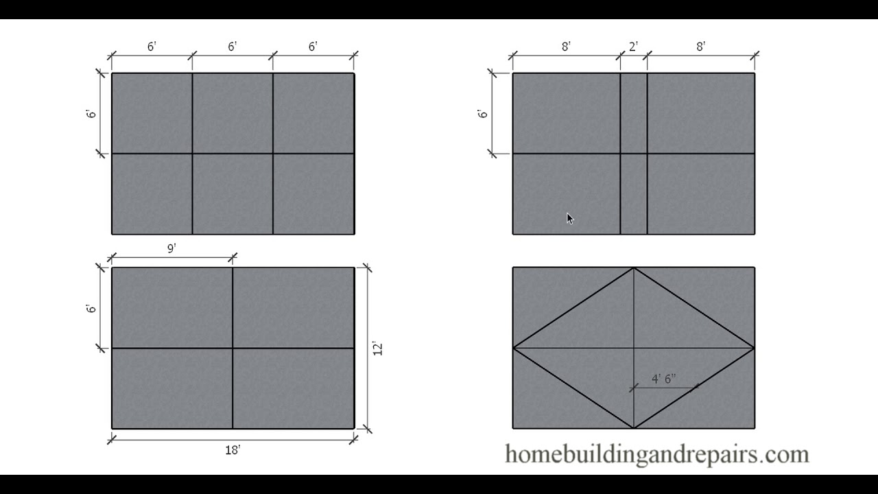 Maximum Spacing for Control Joints in Concrete Patio Slabs - Design Tips  and Ideas