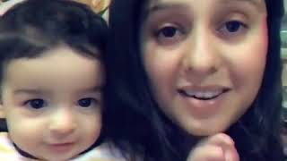 Sunidhi Chauhan with her cute baby .