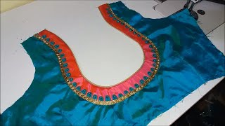 New मटका गला Blouse Back Neck design cutting and stitching at home