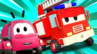 Autopatrouille 🚒 Met Tom de Takelwagen en Het Ongeluk 🚒 Autostad 🚓 brandweer cartoon voor kinderen