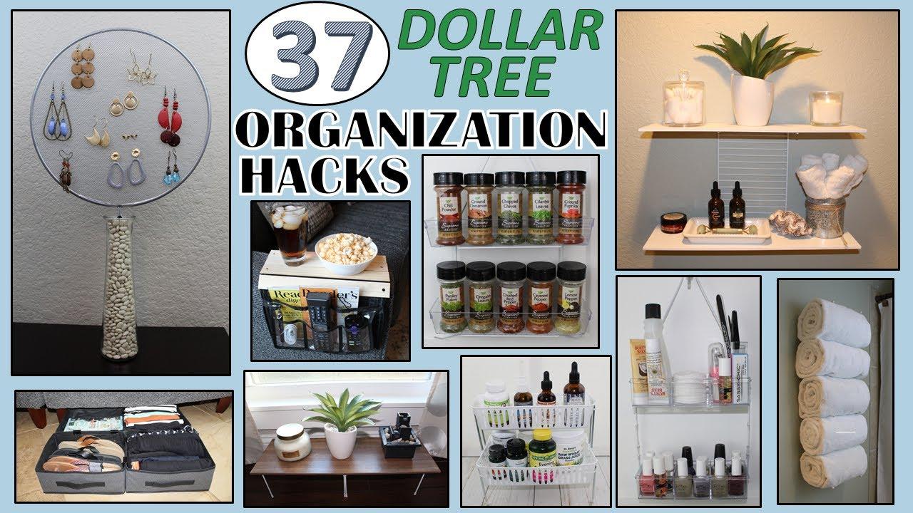 37 DOLLAR STORE ORGANIZATION HACKS | Dollar Tree DIY | ORGANIZATION IDEAS