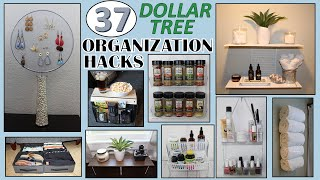 37 Dollar Store Organization Hacks | Dollar Tree Diy | Organization Ideas