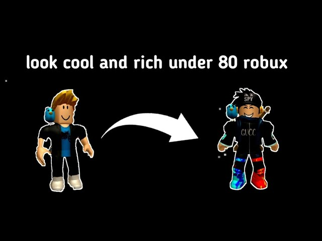 How To Look Cool On Roblox Under 80 Robux Youtube